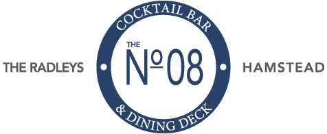 No. 08 Cocktail Bar & Dining Deck Logo