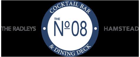 No. 08 Cocktail Bar & Dining Deck Logo